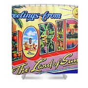 Greetings From Florida, The Land Of Sunshine Shower Curtain