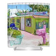 Greetings From Matlacha Island  Florida Shower Curtain