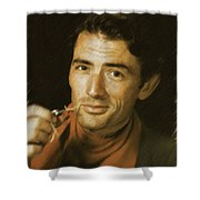Gregory Peck, Vintage Actor Shower Curtain