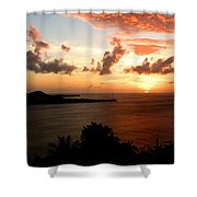 Grenadian Sunset  II Shower Curtain