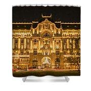 Gresham Palace Holiday Lights Painterly Shower Curtain