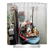 Gretel-k In The Fog - Lyme Regis Shower Curtain