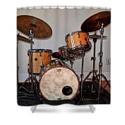 Gretsch Round Badge Shower Curtain