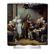 Greuze: The Village Bride Shower Curtain
