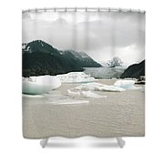 Grewingk Glacier Shower Curtain