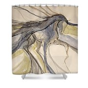 Grey And Gold Classic Shower Curtain
