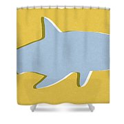 Grey And Yellow Shark Shower Curtain