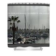 Grey Harbor Shower Curtain