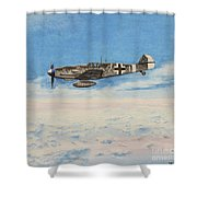 Grey In Blue Shower Curtain