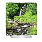 Grey Mares Tail Shower Curtain