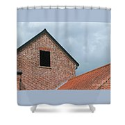 Grey Skyline Shower Curtain