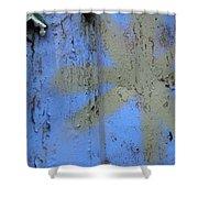Grey Star Shower Curtain