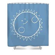 Grey Sun Shower Curtain