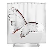 Grey Wings Shower Curtain