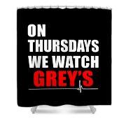 Grey's Anatomy Shower Curtain