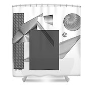 Greyscale Shower Curtain