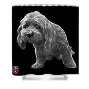 Greyscale Lhasa Apso Pop Art - 5331 - Bb Shower Curtain