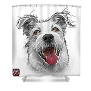 Greyscale Terrier Mix 2989 - Wb Shower Curtain