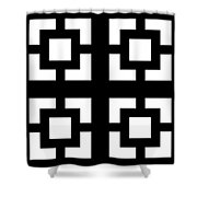 Grid 1  Shower Curtain