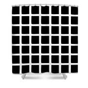 Black Squares Shower Curtain