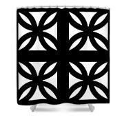 Grid 3  Shower Curtain