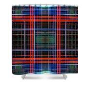 Grid 4 Shower Curtain