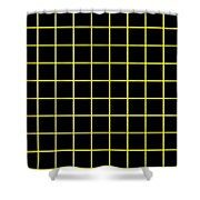 Grid Boxes In Black 09-p0171 Shower Curtain