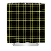 Grid Boxes In Black 18-p0171 Shower Curtain