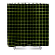 Grid Boxes In Black 30-p0171 Shower Curtain