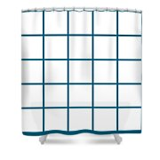 Grid Boxes In White 05-p0171 Shower Curtain