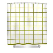 Grid Boxes In White 09-p0171 Shower Curtain