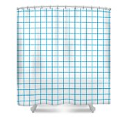 Grid Boxes In White 18-p0171 Shower Curtain