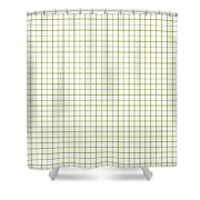 Grid Boxes In White 30-p0171 Shower Curtain