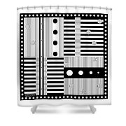 Grid Formal Attire Shower Curtain