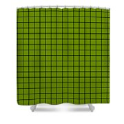 Grid In Black 18-p0171 Shower Curtain