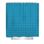 Grid In Black 30-p0171 Shower Curtain