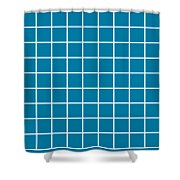 Grid In White 09-p0171 Shower Curtain