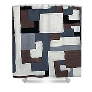 Grids  Shower Curtain