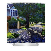 Griffith Avenue Through The Trees Shower Curtain