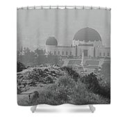 Griffith Obsevotory Celebration Shower Curtain