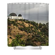 Griffith Park Observatory Shower Curtain