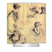 Griffonnage 1814 Shower Curtain
