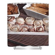 Grilled Champignon Shower Curtain