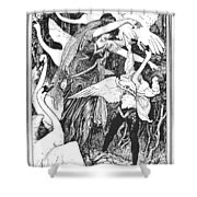 Grimm: The Six Swans Shower Curtain