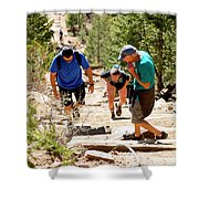 Grinding It Out On The Manitou Incline And Barr Trail Shower Curtain