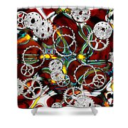 Grinding The Gears Shower Curtain