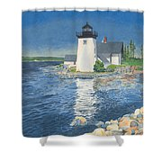 Grindle Point Light Shower Curtain