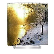 Grings Mill Fog 90-010 Shower Curtain