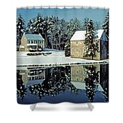 Grings Mill Snow 001 Shower Curtain
