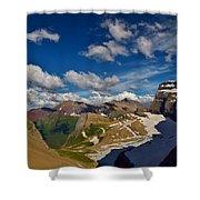 Grinnell Glacier Overlook Shower Curtain